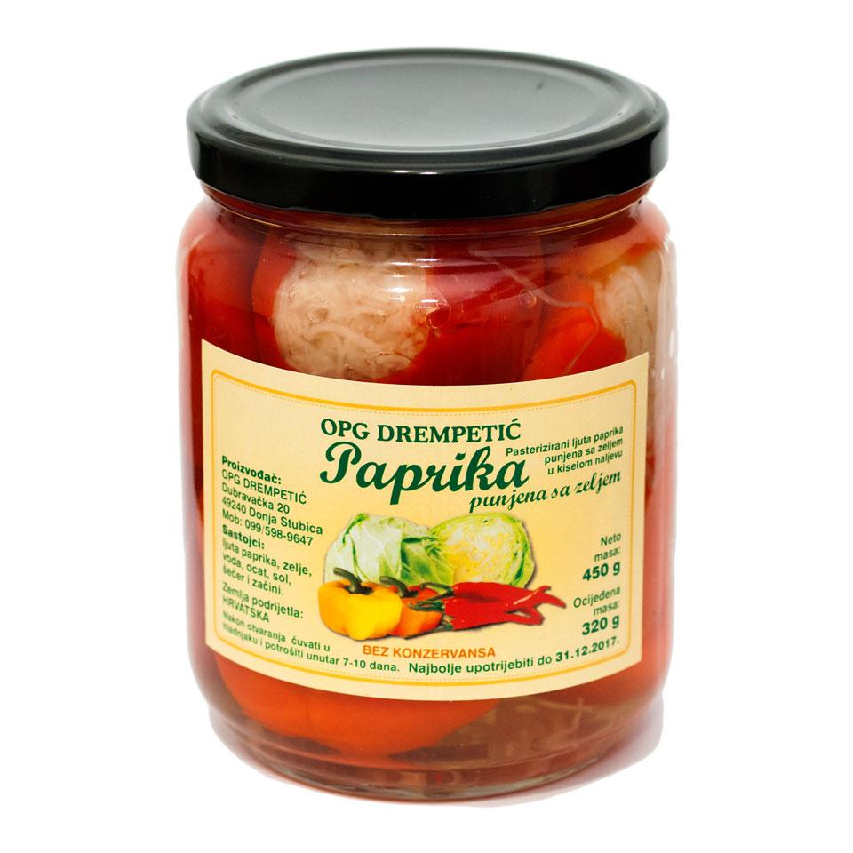 Paprika punjena sa zeljem