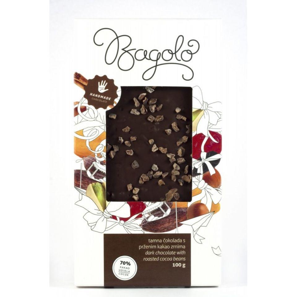 Čokolada ekstra tamna kakao zrnca