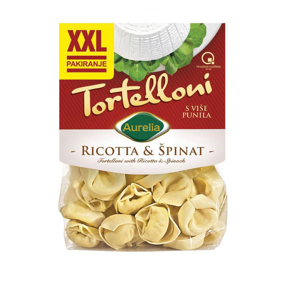 Tortelloni ricotta i špinat